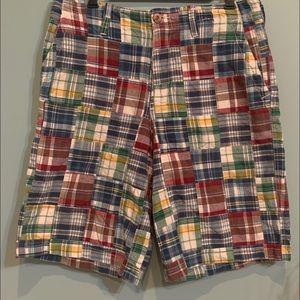 Aeropostale Shorts Multicolor Plaid Patchwork 33